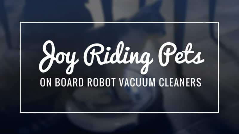 Joy Riding Pets On Board Robot Vacuum Cleaners Smart Vacuums