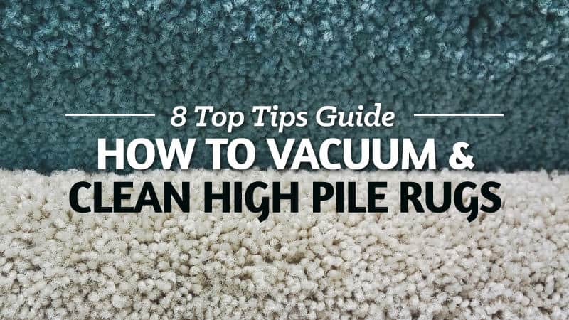 how to deep clean a high pile rug