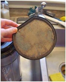 dirty vacuum filter