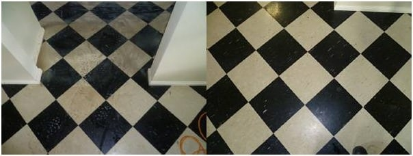 vinyl flooring before and after