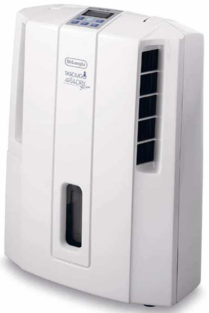 De'Longhi Compact Dehumidifier with ECC DES16E, 16 L