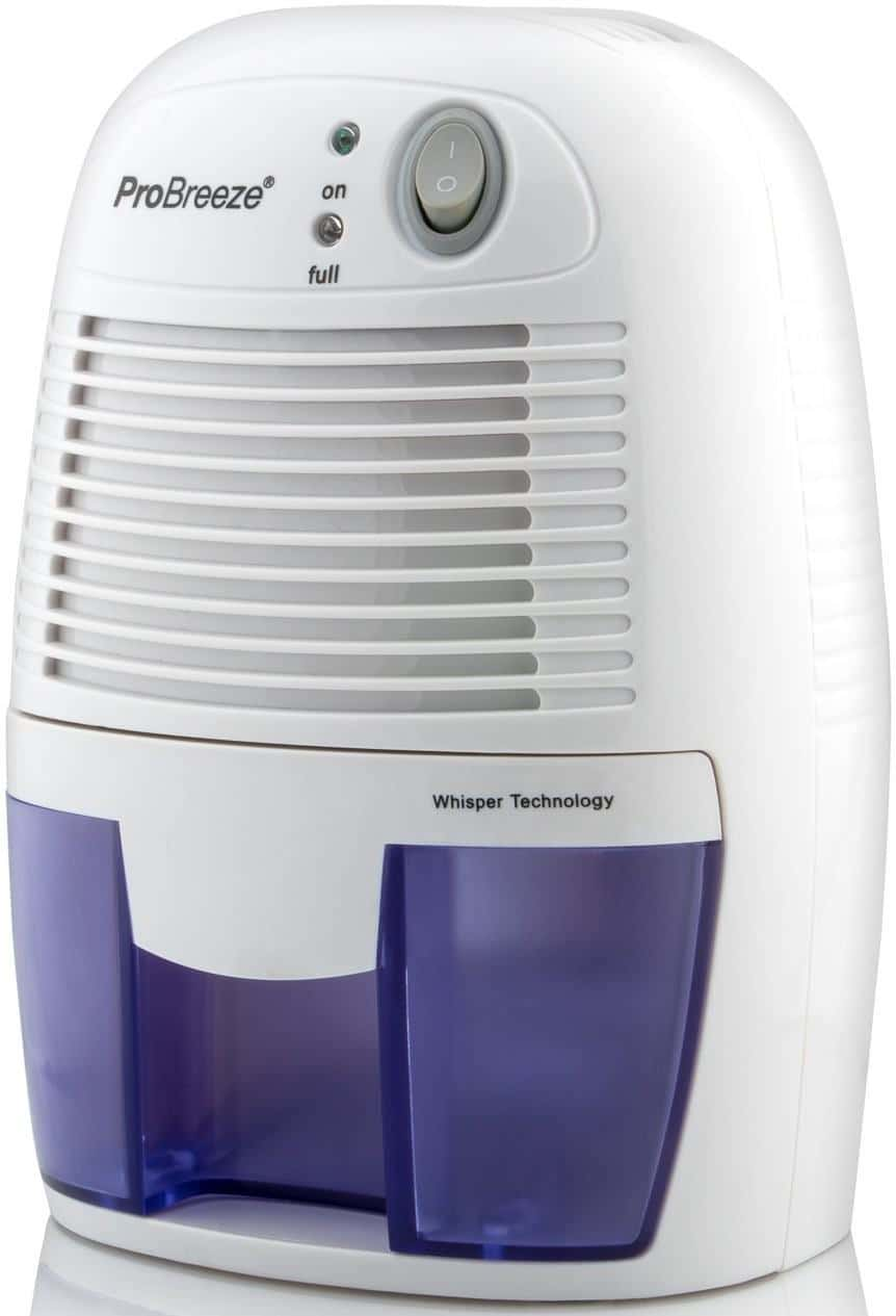 Amcor 8L Desiccant Dehumidifier with Ioniser and Power Saving Humidistat