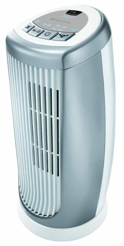 Bionaire BMT014D Mini Desk Tower Fan, 35 W - Silver