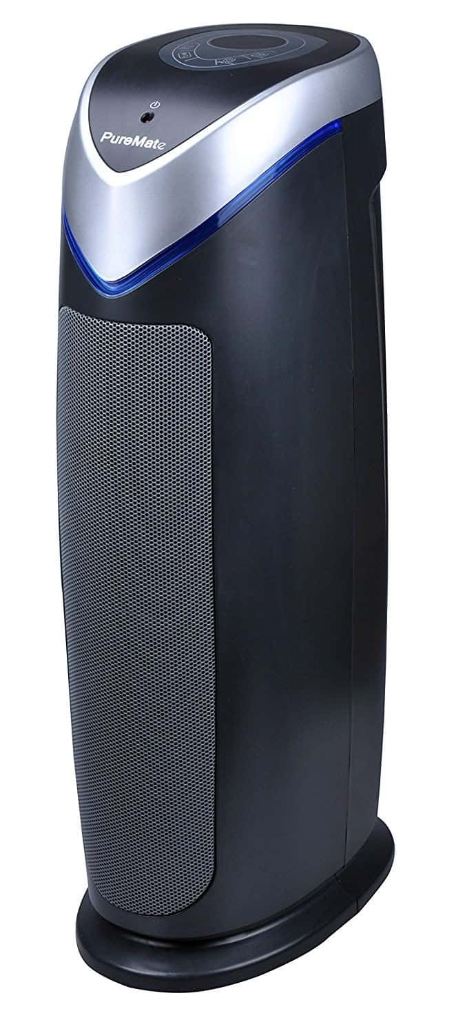 PureMate Multiple Technologies True HEPA Air Purifier and Ioniser with UV-C and Odor Reduction - 22 Inch