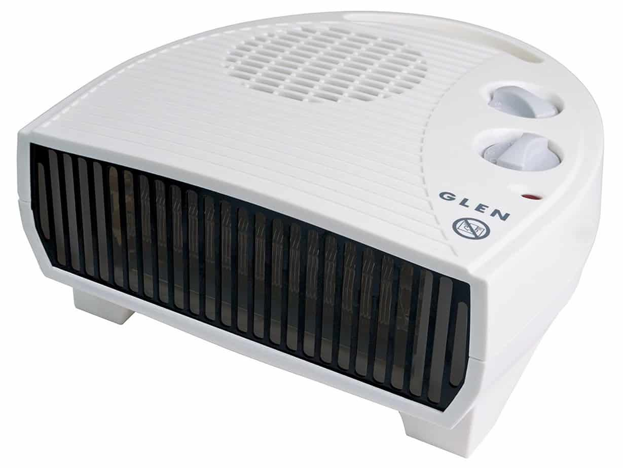 Glen GF30TSN Electric Flat Fan Heater, 3 Kilowatt