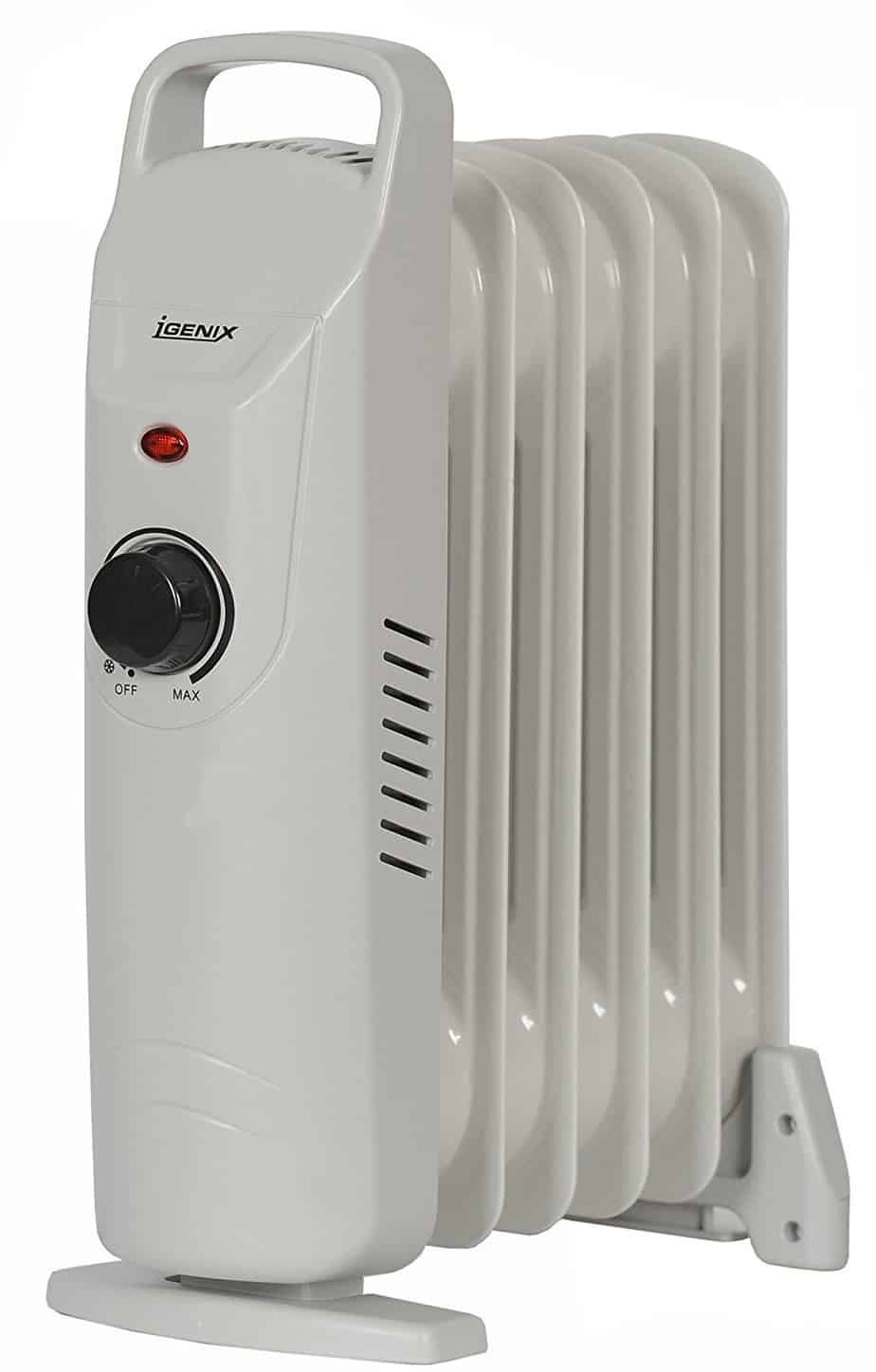 Igenix IG0500 Baby Oil Filled Radiator, 0.5 kW - Grey