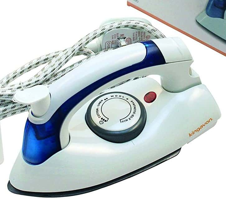 KINGAVON Travel Iron, 700 W, White [Energy Class a]