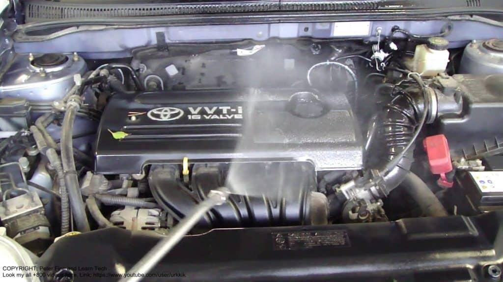pressure wash car engine