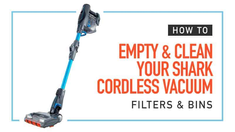How to Empty and Clean A Shark Cordless Vacuum Filter and Bin