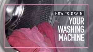 How to Drain your Washing Machine