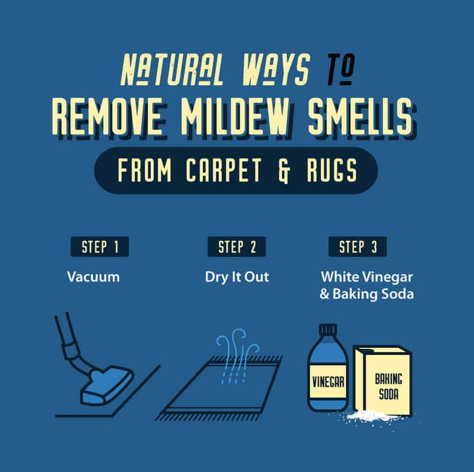 Natural Ways to Remove Mildew Smells from carpet Infographic