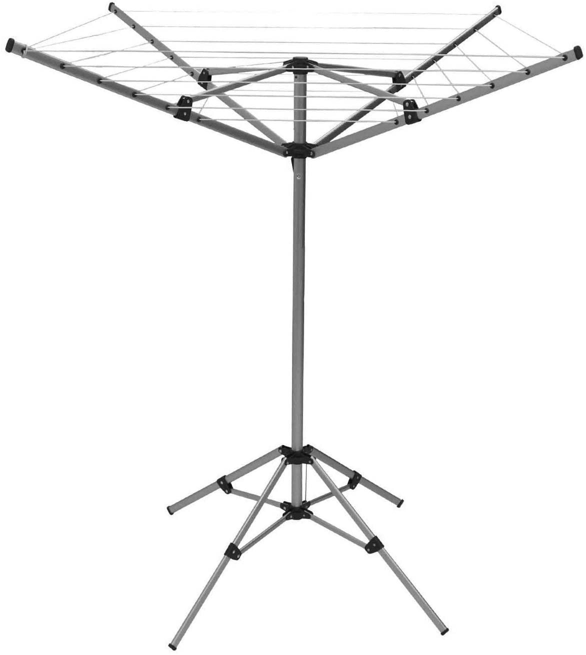 Oypla 15m 4 Arm Lightweight Free Standing Aluminium Rotary Airer